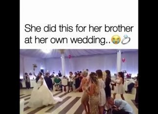 She did this for her brother at her own wedding