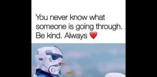 You Never Know What Someone Is Going Through