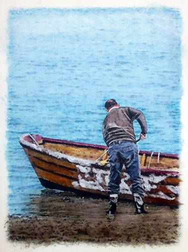 A MAN WAS ASKED TO PAINT A BOAT