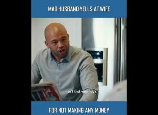 MAD HUSBAND YELLS AT WIFE FOR NOT MAKING MONEY
